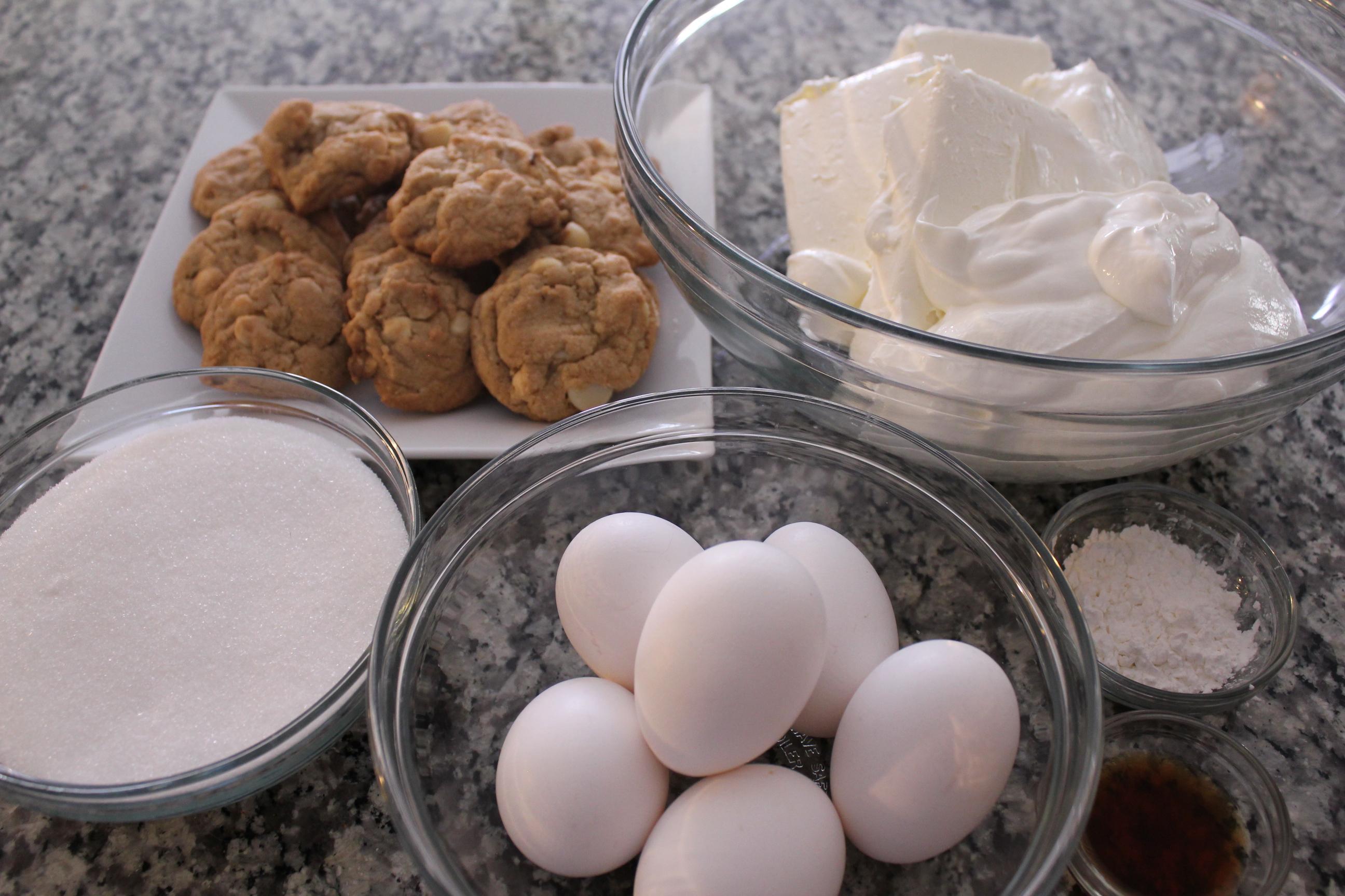 White Chocolate Macadamia Nut Cheesecake Ingredients