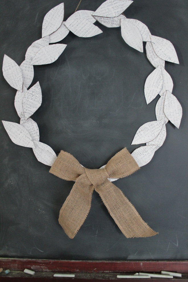 Simple, rustic fall wreath